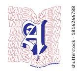 mistaken typographic slogan... | Shutterstock .eps vector #1816266788