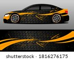 car wrap design with gold color ... | Shutterstock .eps vector #1816276175