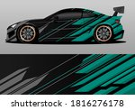 car wrap design with green... | Shutterstock .eps vector #1816276178