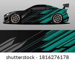 car wrap design with green... | Shutterstock .eps vector #1816276178