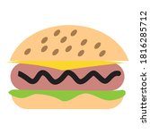 a fast food in a restaurant | Shutterstock .eps vector #1816285712