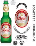 beer label and neck label on... | Shutterstock .eps vector #181629005