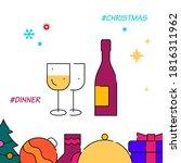 christmas dinner  festive table ...