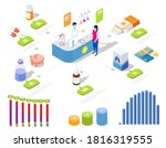 pharmacy store infographic ... | Shutterstock .eps vector #1816319555