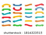 set of colorful empty ribbons... | Shutterstock .eps vector #1816323515