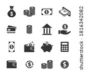 money and payment icon set | Shutterstock .eps vector #1816342082