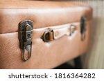 Close Up Old Vintage Lock On...