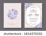 hydrangea flowers wedding... | Shutterstock .eps vector #1816370102