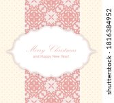 merry christmas and happy new... | Shutterstock .eps vector #1816384952