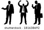 vector silhouette of... | Shutterstock .eps vector #181638692