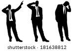 vector silhouette of... | Shutterstock .eps vector #181638812