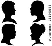 vector silhouettes of different ... | Shutterstock .eps vector #181640555