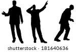 vector silhouette of... | Shutterstock .eps vector #181640636