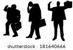vector silhouette of... | Shutterstock .eps vector #181640666