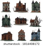 scary houses collection ... | Shutterstock .eps vector #1816408172