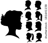 vector silhouettes of different ... | Shutterstock .eps vector #181641158