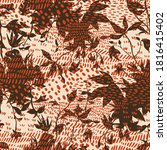 mixed animal skin texture with... | Shutterstock .eps vector #1816415402