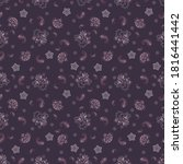 floral seamless pattern with... | Shutterstock .eps vector #1816441442