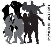 vector silhouette of people who ...   Shutterstock .eps vector #181644395