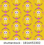 Seamless Pattern With Skull And ...