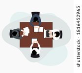business meeting top view on... | Shutterstock .eps vector #1816452965