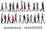 large group of mixed people... | Shutterstock . vector #1816459358
