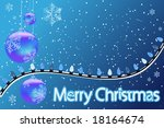 blue merry christmas background ... | Shutterstock . vector #18164674