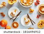Pumpkin Pie Served With Whipped ...