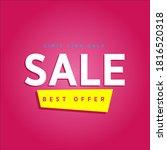 super sale poster  banner. big...   Shutterstock .eps vector #1816520318