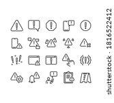 set of warnings related vector... | Shutterstock .eps vector #1816522412