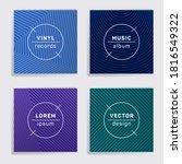 abstract vinyl records music... | Shutterstock .eps vector #1816549322