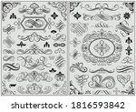set of calligraphic frames and... | Shutterstock .eps vector #1816593842