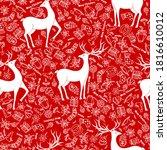 seamless pattern for christmas... | Shutterstock .eps vector #1816610012