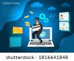 digital online cyber crime ... | Shutterstock .eps vector #1816641848