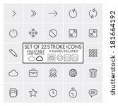 Stroke Design Icons Set 2  ...