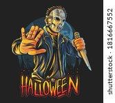 Masked Man Halloween Costume...