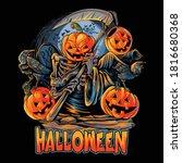 angel of death halloween... | Shutterstock .eps vector #1816680368
