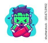 Cute Frankenstein Zombie Gaming ...