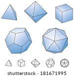 platonic solids   regular ... | Shutterstock .eps vector #181671995
