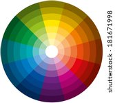 color circle light dark  ... | Shutterstock .eps vector #181671998