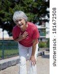 angina pectoris  elderly person | Shutterstock . vector #181672508
