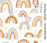 cute seamless pattern with...   Shutterstock .eps vector #1816746212