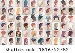 avatar set portrait collection... | Shutterstock .eps vector #1816752782