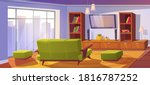living room interior with sofa... | Shutterstock .eps vector #1816787252