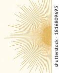abstract sun print boho... | Shutterstock .eps vector #1816809695