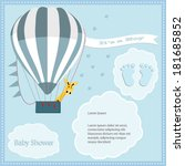 baby shower card  for baby boy... | Shutterstock .eps vector #181685852