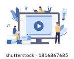 online education  watching... | Shutterstock .eps vector #1816867685