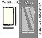 smartphone mockup for ui ux...