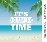 abstract summer vacation... | Shutterstock .eps vector #181694705