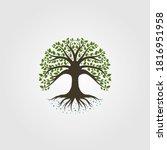 Vintage Tree Logo Vector...